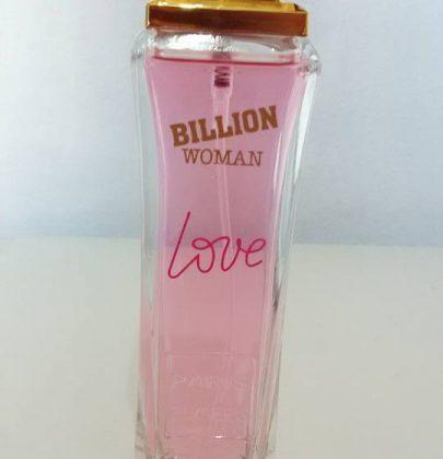 Perfume Billion woman love – testei no papel.