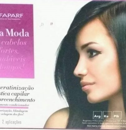capillary powerful plastic-tested and approved to Alfakeratinização Alta Moda Alfaparf.