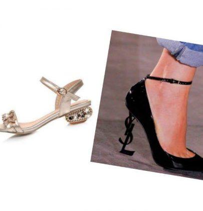 Calçados com saltos diferentes: veja essa moda.