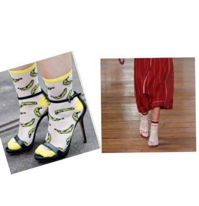 Sandália com meia esportiva: tendência que amei.
