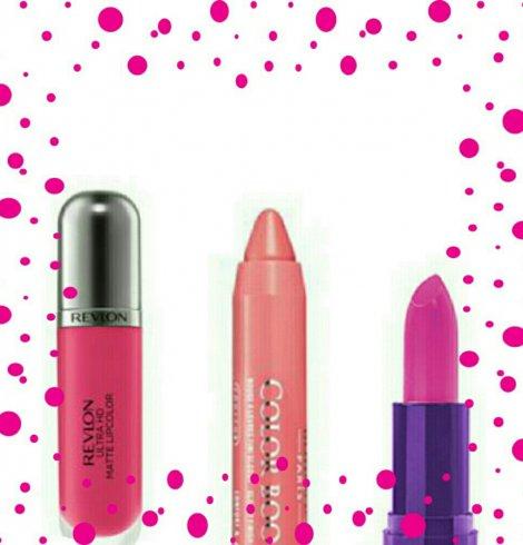 Batons fabulosos na cor rosa.