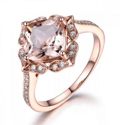 Anéis de noivado de diamante dourado oval de 14 a 18K da Disney.