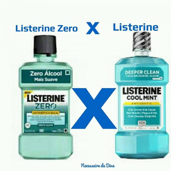 Listerine sem álcool ou Listerine com álcool ?