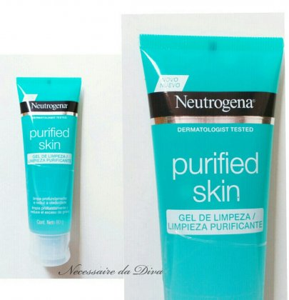 Tested cleansing gel Neutrogena Purified Skin.