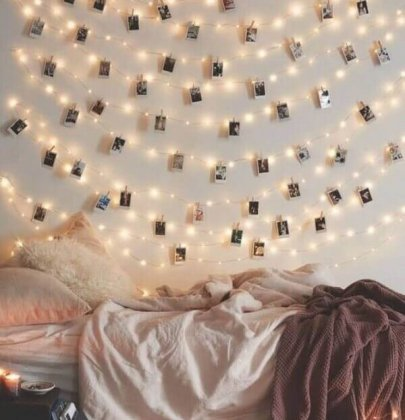 6 inspirations to her room with pictures of wall.