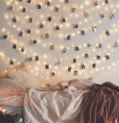 6 inspirações para o seu quarto com mural de fotos.
