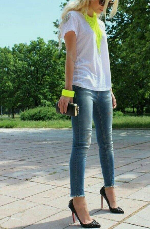 roupas neon tendência