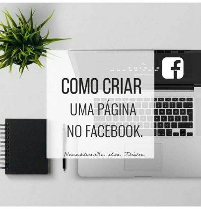 Como criar uma página no Facebook.
