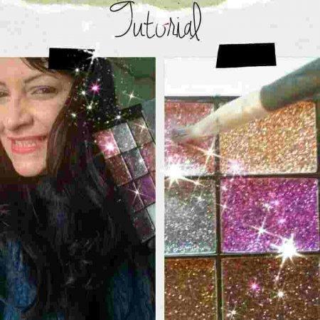 Tutorial: maquiagem com glitter em sombras.