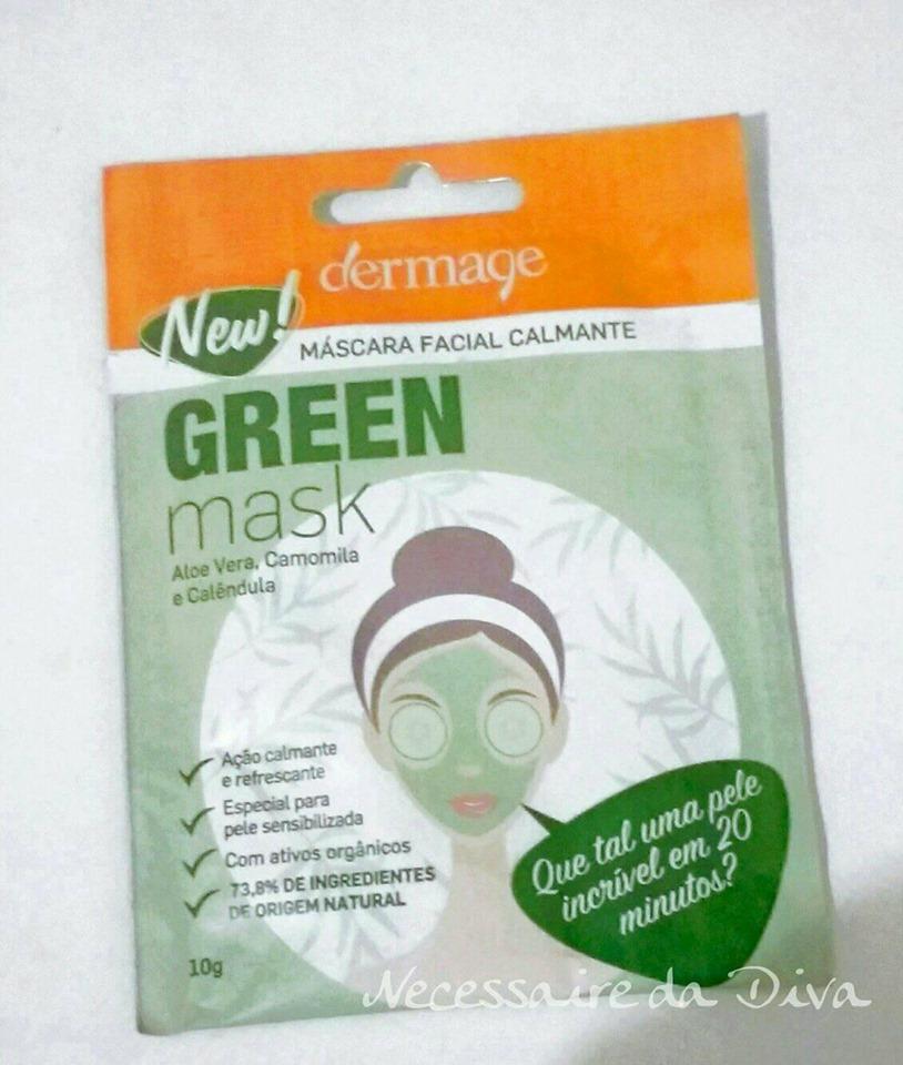 máscara facial calmante