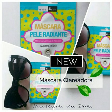 Máscara clareadora facial Beauty 4 fun-resenha.