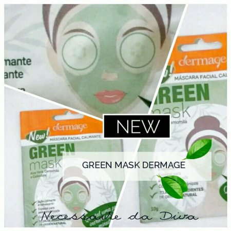 Máscara facial calmante green mask Dermage.