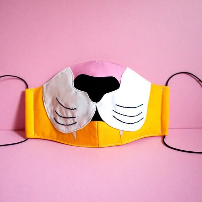tiger face mask etsy