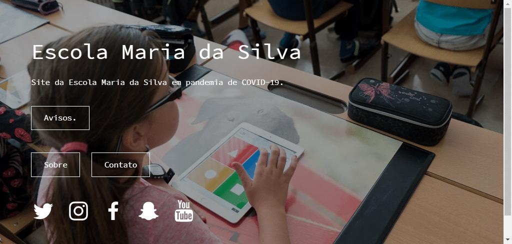 criar site gratis para escola
