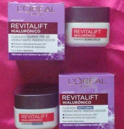 Testei o creme Revitalift Hialurônico da L'oréal.