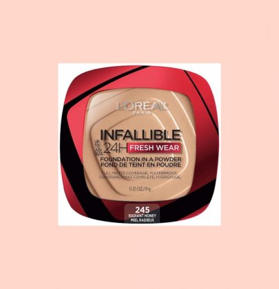 L'oreal Infallible powder fondation.